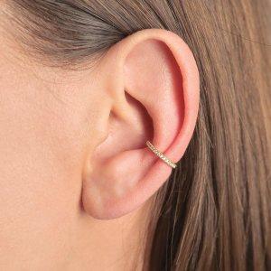 Srebrna naušnica Ear Cuff Aurora 18kt Pozlata