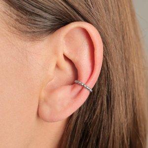 Srebrna naušnica Ear Cuff Helena