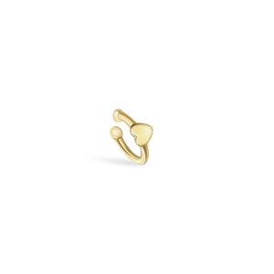 Srebrna naušnica Ear Cuff Afrodita 18kt Pozlata