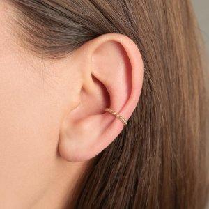 Srebrna naušnica Ear Cuff Helena 18kt Pozlata