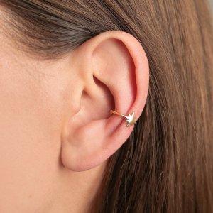 Srebrna naušnica Ear Cuff Andromeda 18kt Pozlata